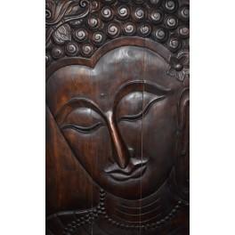 Paneau - Apsara Sculture en bois 28''x47''