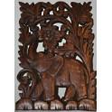 Sculpture en bois d'éléphant 8x12''